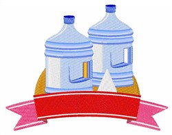 Water Jug embroidery design