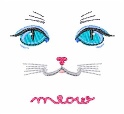 Cat Meow embroidery design
