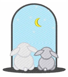 Bunny Night embroidery design