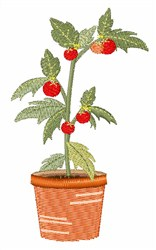 Tomato Plant embroidery design
