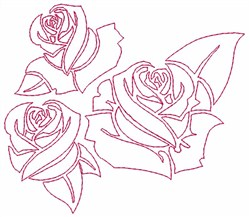 Outline Roses embroidery design