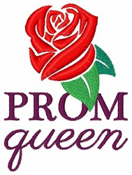Prom Queen embroidery design