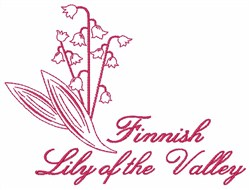 Finnish Lily embroidery design