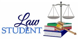 Law Student embroidery design