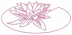 Lily Pad embroidery design