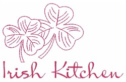 Irish Kitchen embroidery design