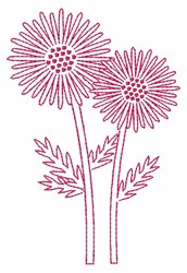 Daisy Outline embroidery design