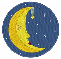 Man In Moon embroidery design