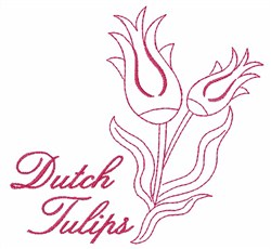 Dutch Tulips embroidery design