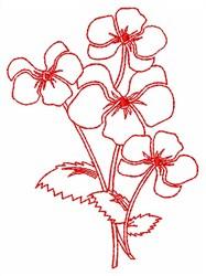 Violet Outline embroidery design