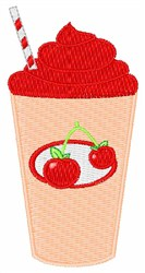 Cherry Drink embroidery design