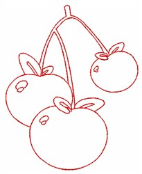 Cherry Outline embroidery design