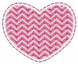 Zig Zag Heart embroidery design