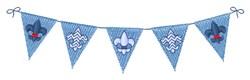 Fleur de Lis Pennants embroidery design
