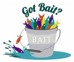 Got Bait? embroidery design