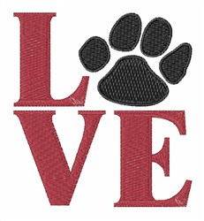 Love Paw embroidery design
