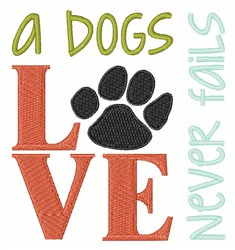 A Dogs Love embroidery design