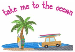 To the Ocean embroidery design