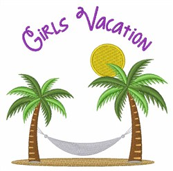 Girls Vacation embroidery design