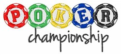Poker Championship embroidery design