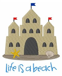 Life is a Beach embroidery design