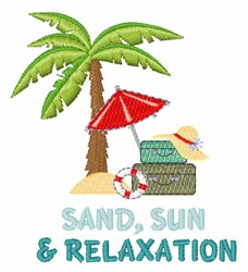Sand Sun Relaxation embroidery design
