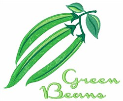 Green Beans embroidery design