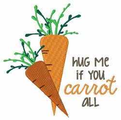Carrot Care embroidery design