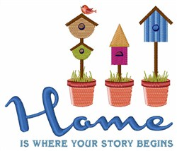 Home Story embroidery design