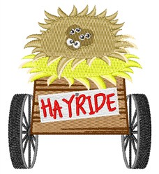 Hayride Wagon embroidery design