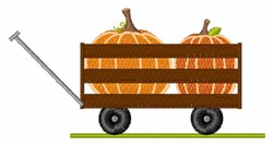 Pumpkin Patch Wagon embroidery design