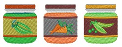 Baby Food Vegetables embroidery design