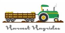 Harvest Hayrides embroidery design