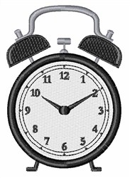Alarm Clock embroidery design