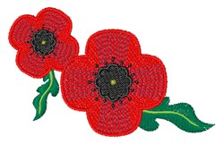 Veterans Poppies embroidery design