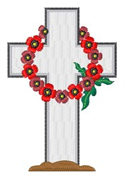 Wreath Gravestone embroidery design