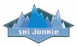 Ski Junkie embroidery design