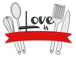 Love Is Cooking embroidery design