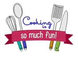Cooking Is Fun embroidery design