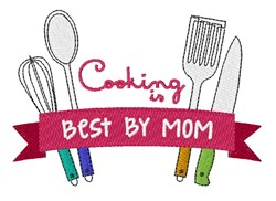Cooking By Mom embroidery design