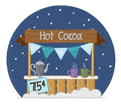 Hot Cocoa Stand embroidery design