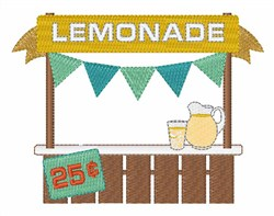 Lemonade Stand embroidery design