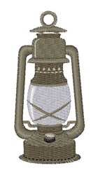 Camp Lantern embroidery design