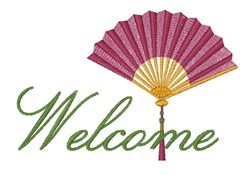 Welcome Fan embroidery design