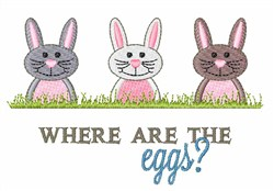 Where are the Eggs embroidery design