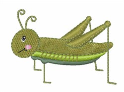 Green Grasshopper embroidery design
