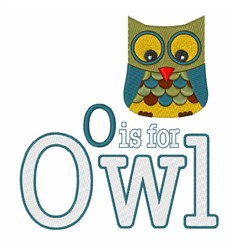 O for Owl embroidery design