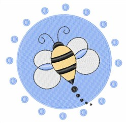 Bee in Circle embroidery design