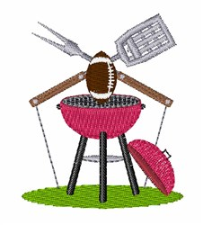 Football Grill embroidery design
