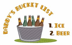Bucket List embroidery design